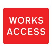 Works Access Metal Road Sign Plate - 1050 x 750mm