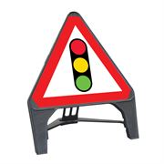 CuStack Traffic Signals Triangular Sign - 750mm