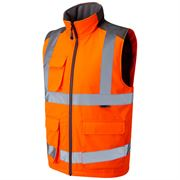 Leo Torrington Rail Hi Vis Class 2 Orange Body Warmer