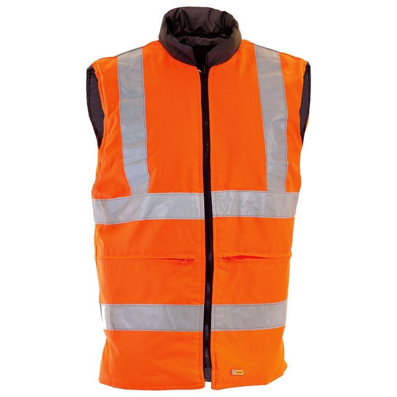 Rail Hi Vis Class 2 Reversible Orange Body Warmer