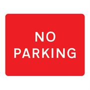No Parking Metal Road Sign Plate - 600 x 450mm