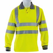 Hi Vis Class 3 Long Sleeve Yellow Polo Shirt