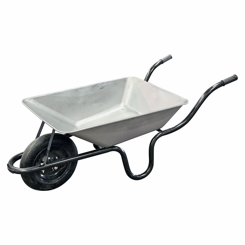 Cu-Barrow Press Pan Wheelbarrow - Solid Wheel - 85 Litre