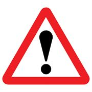 Danger Triangular Metal Road Sign Plate - 750mm