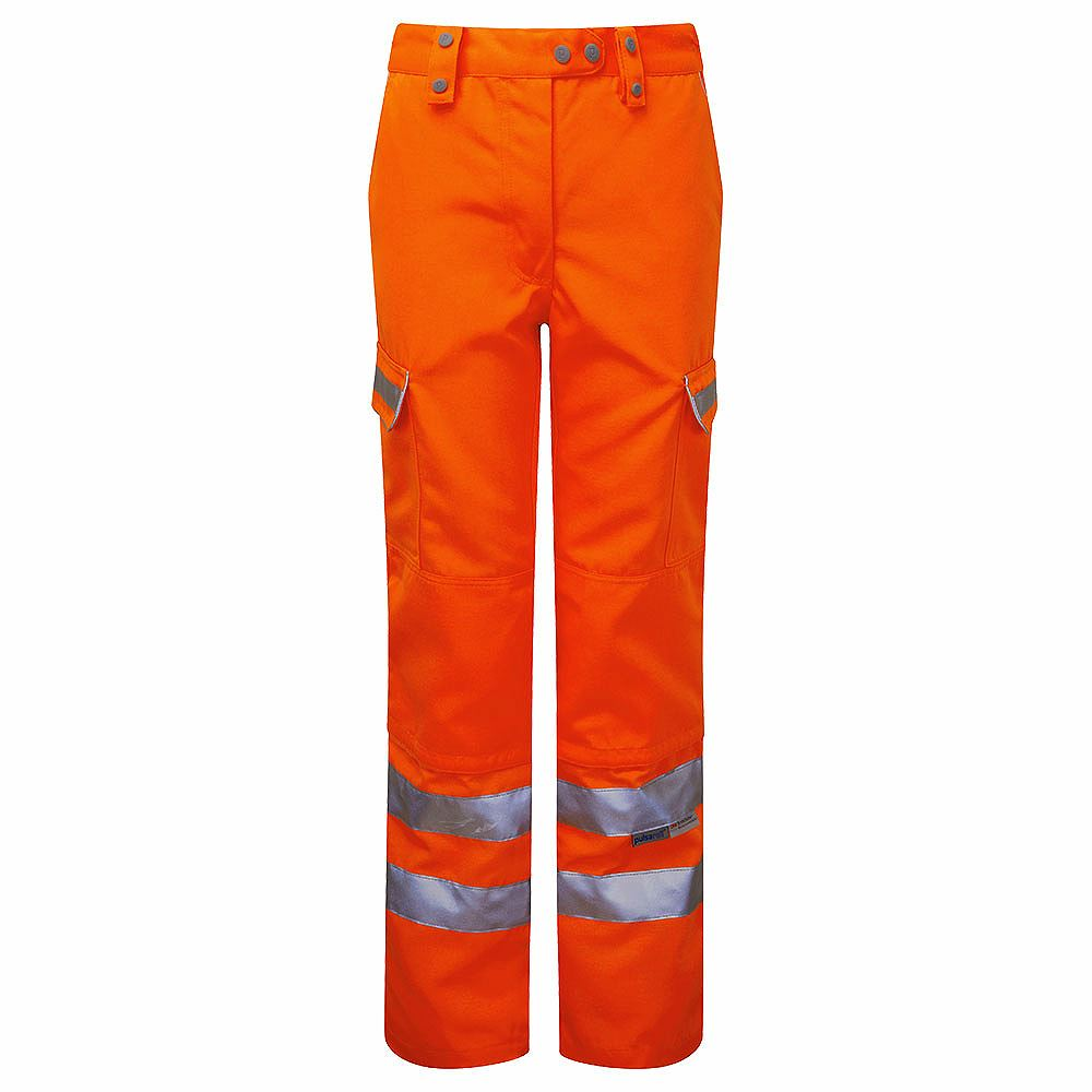 Pulsarail Rail Women's Hi Vis Class 1 Orange Combat Trousers