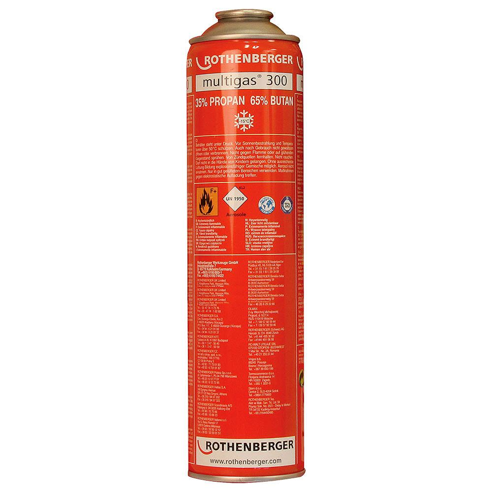 Rothenberger Multigas 300 Cylinder - 600ml