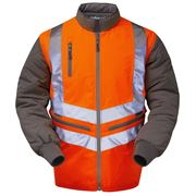 Pulsarail Rail Waterproof Breathable Hi Vis Class 3 Long Sleeve Reversible Orange Body Warmer