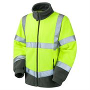 Leo Hartland Hi Vis Class 3 Yellow Fleece Jacket