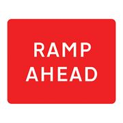 Ramp Ahead Metal Road Sign Plate - 1050 x 750mm
