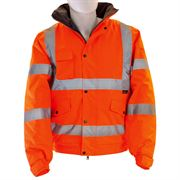 Waterproof Hi Vis Class 3 Orange Bomber Jacket