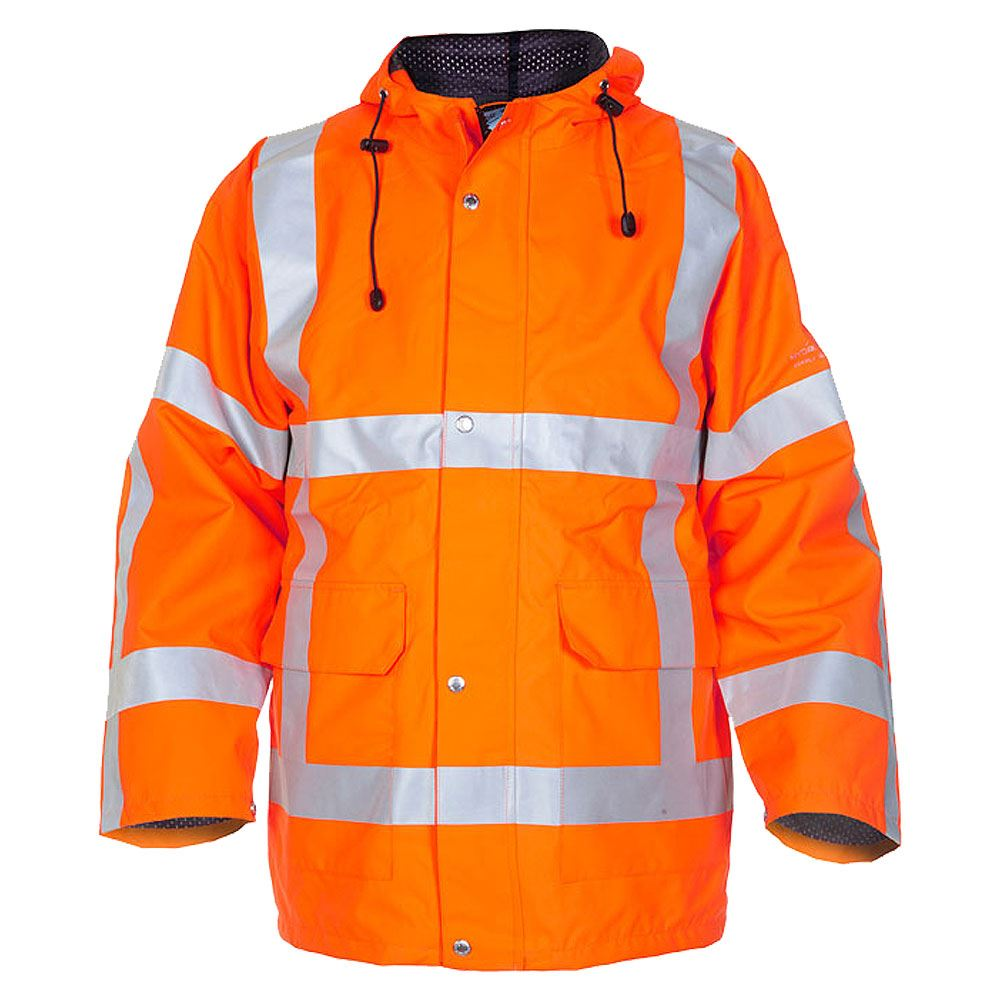 Hydrowear Uithoorn Rail Waterproof Breathable Hi Vis Class 3 Orange Parka Jacket