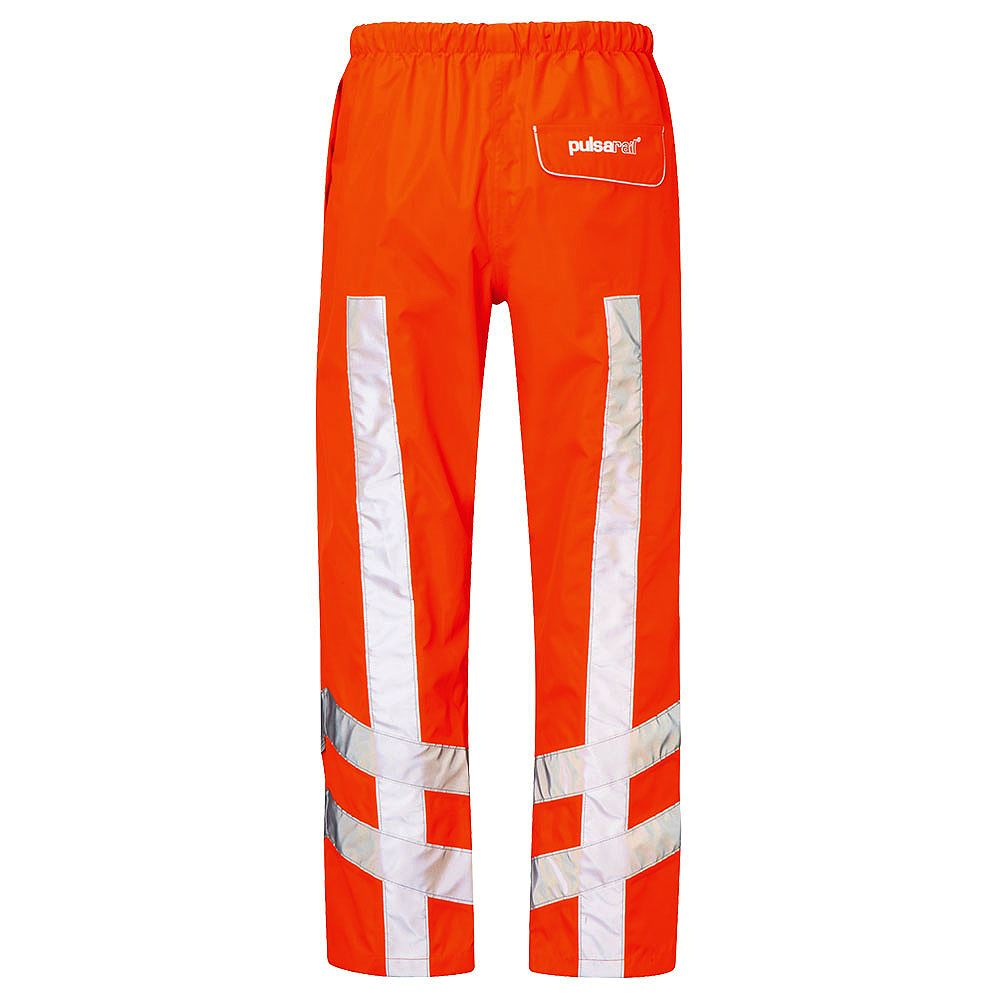 Pulsarail Rail Waterproof Breathable Hi Vis Class 1 Orange Overtrousers