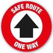 Safe Route One Way Anti Slip Floor Graphic - 200mm
