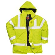 Flame Retardant Anti Static Waterproof Hi Vis Class 3 Yellow Jacket