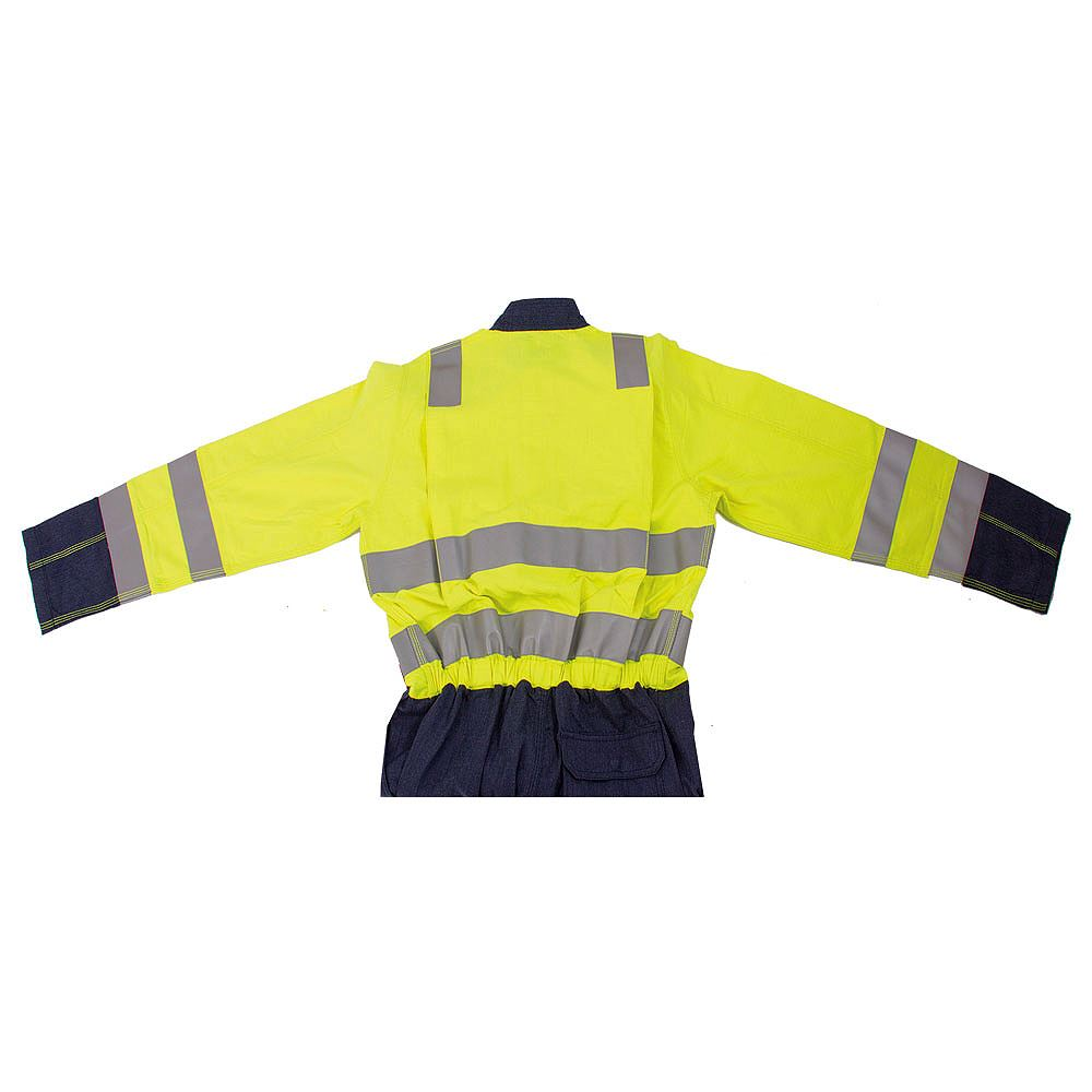 Jafco FlameAwear Flame Retardant Anti Static Arc 7kA Hi Vis Class 3 Two Tone Coverall - 320gsm
