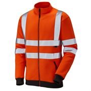Leo Libbaton Rail Hi Vis Class 3 Orange Track Top