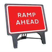 CuStack Ramp Ahead Sign - 1050 x 750mm