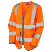 Leo Beaworthy Ladies' Rail Hi Vis Long Sleeve Orange Superior Waistcoat