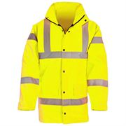 Super-Dri Waterproof Hi Vis Class 3 Yellow Parka Jacket