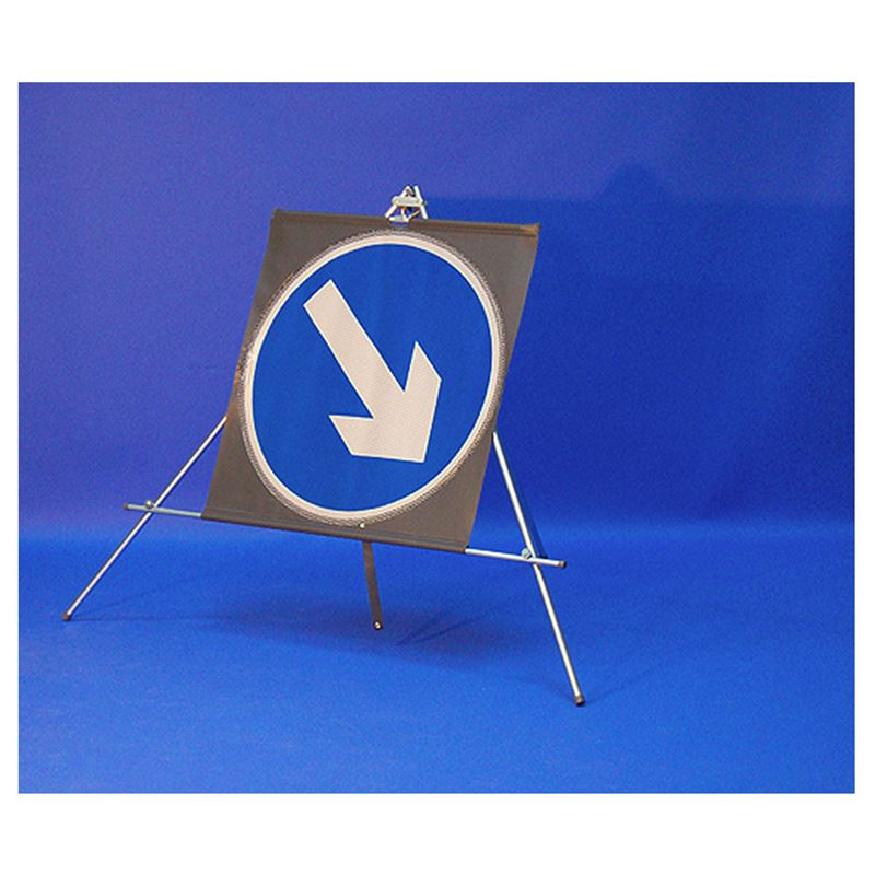 Classic Keep Right Circular Roll Up Road Sign - 750mm