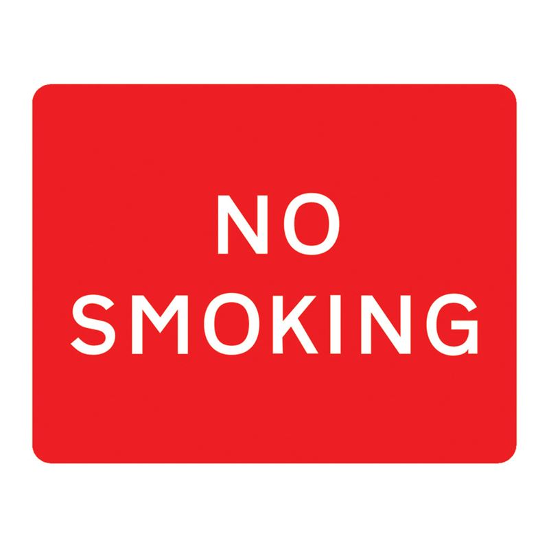 No Smoking Metal Road Sign Plate - 600 x 450mm