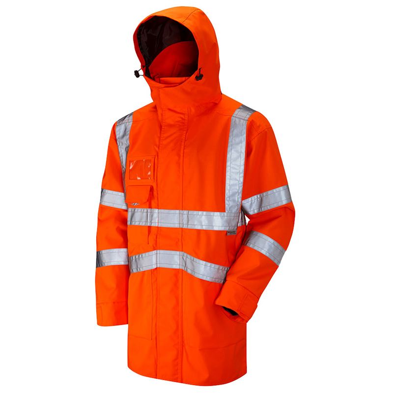 Jafco Rail Waterproof Breathable Hi Vis Class 3 Orange Executive Anorak