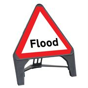 CuStack Flood Triangular Sign - 750mm