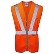 Pulsarail Rail Hi Vis Class 2 Tear Apart Zip Orange Waistcoat