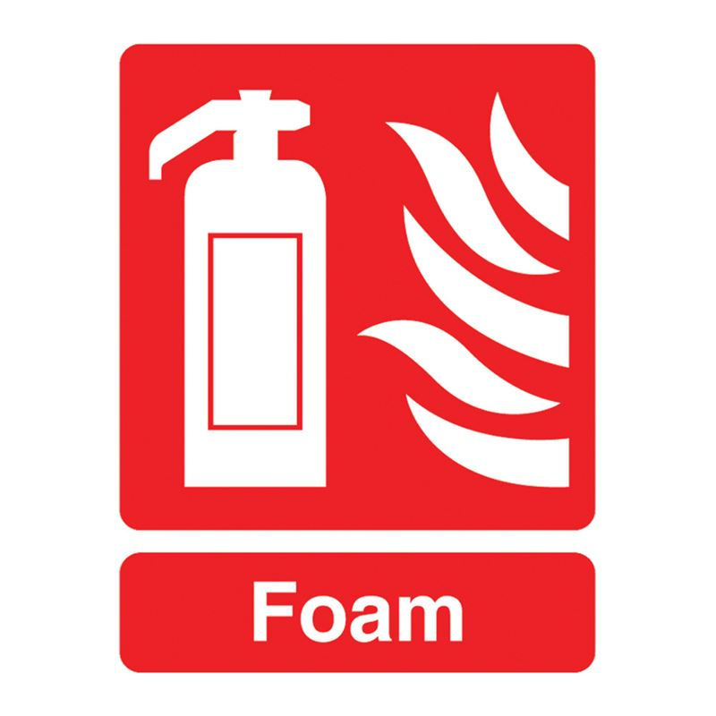 Fire Extinguisher, Foam Sign - 95 x 220 x 1mm