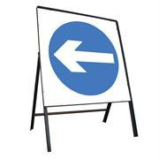 Turn Left Riveted Square Metal Road Sign - 750mm
