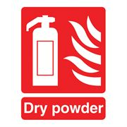 Fire Extinguisher, Dry Powder Sign - 95 x 220 x 1mm