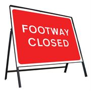 Footway Closed Riveted Metal Road Sign - 600 x 450mm