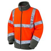 Leo Hartland Rail Hi Vis Class 3 Orange Fleece Jacket
