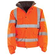 Super-Dri Rail Waterproof Hi Vis Class 3 Orange Bomber Jacket