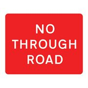 No Through Road Metal Road Sign Plate - 1050 x 750mm