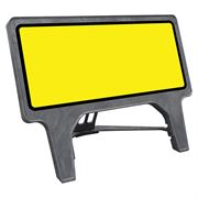 CuStack Yellow Face, Black Border Sign - 1050 x 450mm