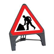 CuStack Men at Work Roadworks Triangular Sign - 750mm