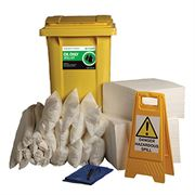 Ecospill Oil Only Spill Response Kit - 2 Wheel PE Bin - 360 Litre