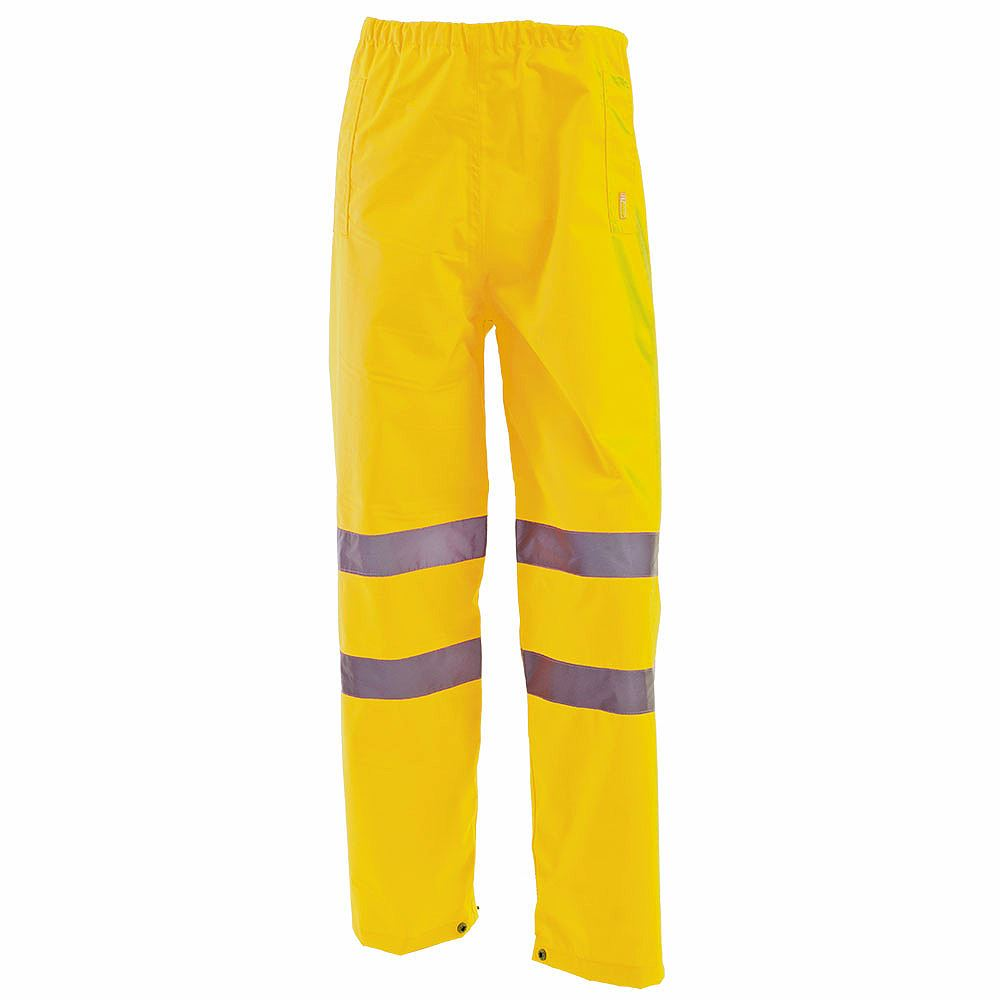 Waterproof Hi Vis Class 1 Overtrousers - Yellow