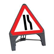 CuStack Road Narrows Offside Triangular Sign - 750mm