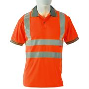 Rail Hi Vis Class 2 Short Sleeve Orange Polo Shirt