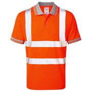 Pulsarail Rail Hi Vis Class 2 Short Sleeve Orange Polo Shirt