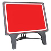 CuStack Red Face and White Border Blank Sign - 1050 x 750mm