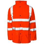 Super-Dri Rail Waterproof Breathable Hi Vis Class 3 Orange Jacket