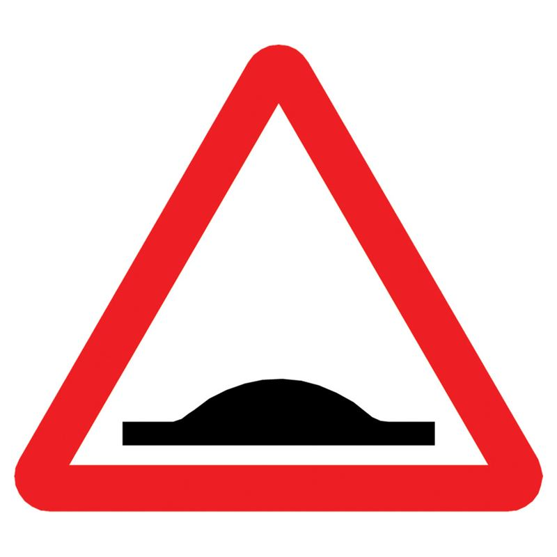Humps Triangular Metal Road Sign Plate - 1200mm