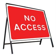 No Access Riveted Metal Road Sign - 1050 x 750mm