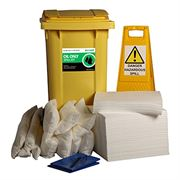 Ecospill Oil Only Spill Response Kit - 2 Wheel PE Bin - 240 Litre