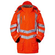 Pulsarail Rail Waterproof Hi Vis Class 3 Orange Storm Jacket