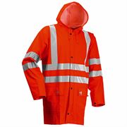 Lyngsoe Rainwear Flame Retardant Anti Static Waterproof Arc 4kA Hi Vis Class 3 Orange Jacket