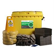 Ecospill Maintenance Spill Response Kit - 4 Wheel PE Bin - 600 Litre